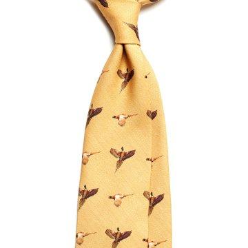 Hunting Challis Wool tie - sand