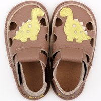 Barefoot kids sandals - Dino Brown