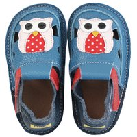 Barefoot kids sandals - Classic Happy owl