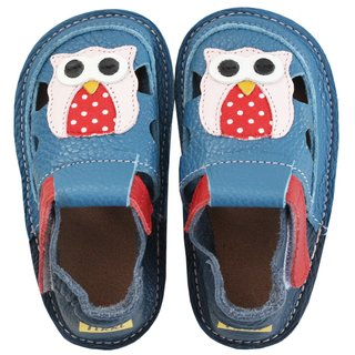 Barefoot kids sandals - Happy owl