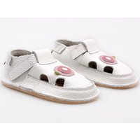 Barefoot kids sandals - White Rose