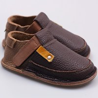 Barefoot kids shoes - Coffee