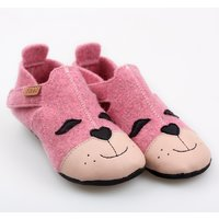 Felted wool shoes- Ziggy Kitty 19-23EU