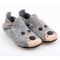 Felted wool shoes- Ziggy Mouse 30-35 EU
