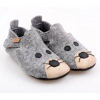 Felted wool shoes- Ziggy Mouse 24-32EU
