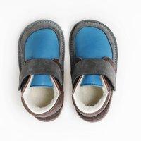 Ghete Barefoot cu lână - Happy Blue