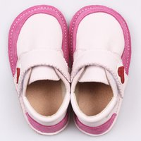 Ghete piele Barefoot - Baby Pink