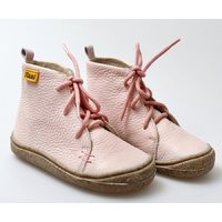 OUTLET Barefoot leather boots - Beetle - Light Pink