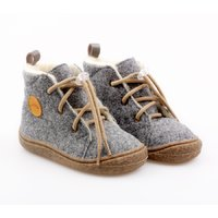 OUTLET Felted wool boots - Beetle Gray 19-23 EU
