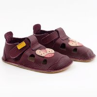 OUTLET Leather barefoot sandals - NIDO Mariquita